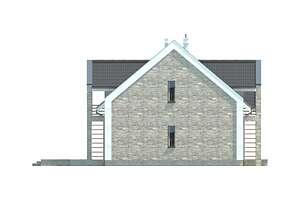 Elewacja boczna lewa - projekt Budynek agroturystyczny Brzoza 2