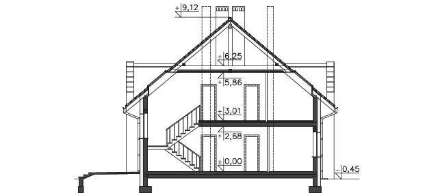 Przekrój - projekt Budynek agroturystyczny Dąb 2