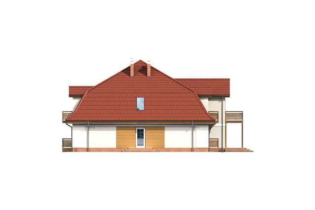 Zobacz powiększenie elewacji bocznej lewej - projekt Budynek agroturystyczny Ambrowiec