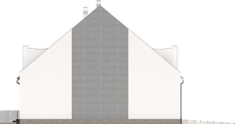 Elewacja boczna lewa - projekt Miltown