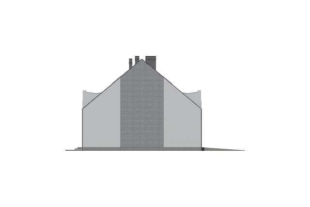 Zobacz powiększenie elewacji bocznej lewej - projekt Miltown II