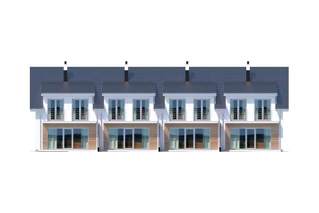 Zobacz powiększenie elewacji ogrodowej - projekt Clermont