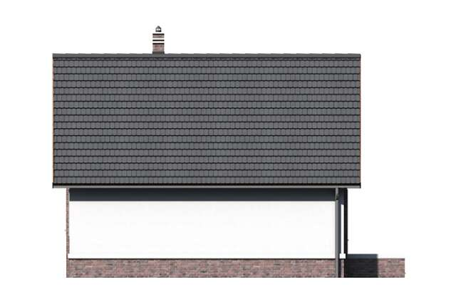 Zobacz powiększenie elewacji ogrodowej - projekt Kaprun II