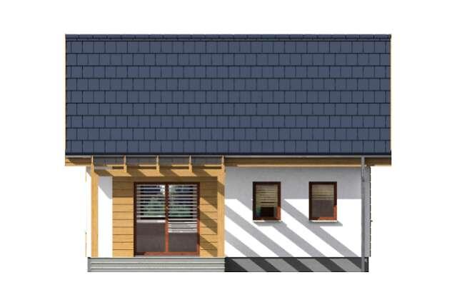 Zobacz powiększenie elewacji ogrodowej - projekt Martin