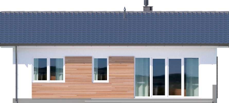 Elewacja ogrodowa - projekt Oban w.drewniana